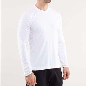 Lululemon swiftly tech long sleeve white grey L